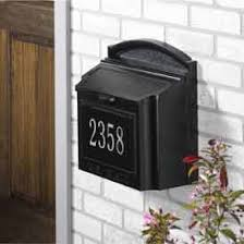 Residential mailboxes side view Curbside Mailbox Security Wall Mount Mailboxes Us Postmaster Approved Wayfair Residential Mailboxescolumn Wall Mount Globalindustrialcom