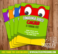 Boy Birthday Party Invitation Templates Free Ninja Turtle Party Invitations Printable Ninja Turtle Inspired