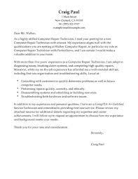 Cover Letter Computer Technician Sample Granitestateartsmarket Com