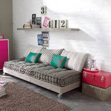sofa for bedroom. frenchstyle mattress on platform with casters is inspiration piece for crafters and makes sofa bedroom