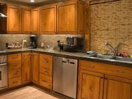 rustic kitchen with unfinished cabinet doors