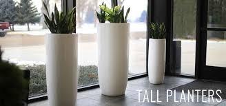 modern planter twista tall contemporary inch modern outdoor