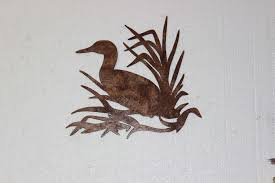 western metal wall art silhouettes lovely duck in reeds metal wall art country rustic hunting home