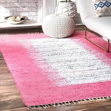 bright pink kilim rug handmade cotton 5 x 8