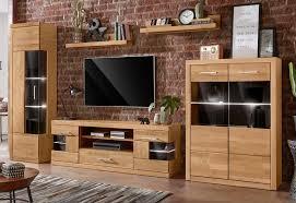 So ist das natürlich auch im wohnzimmer. Wohnwand Ribe Set 5 Tlg Teilmassives Holz Otto