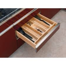 Rev-A-Shelf 2.38 in. H x 24 in. W x 22 in. D Short Wood Cabinet Drawer  Utility Tray Insert-4WUT-3SH - The Home Depot