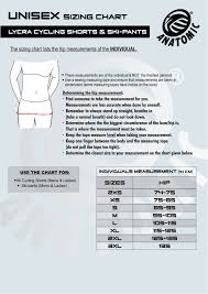 Canari Cycling Shorts Size Chart Cycling Shorts Size Chart