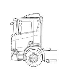 75 Kleurplaat Vrachtwagen Scania Kleurplaat 2019