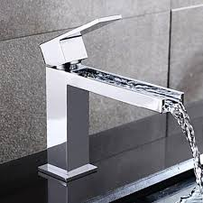 bathroom faucets. contemporary waterfall brass chrome centerset finish bathroom sink faucet-- faucetsuperdeal.com faucets e