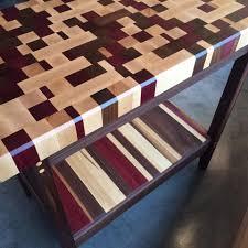 purple heart wood furniture. One Of A Kind Butcher Block Made Maple, Black Walnut \u0026 Purple Heart - Purple Heart Wood Furniture F