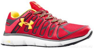 under armour shoes red and white. complete price running shoes - mens under armour pulse ii grit red/white /taxi red and white