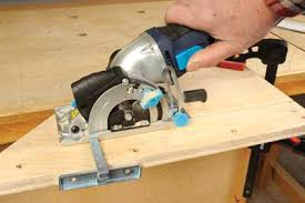 skill saw in use. the 860 l mini hand-held circular saw in use skill g