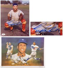 sports auctions roy campanella signed paluso litho and signed photo