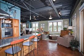basement track lighting. exposed basement ceiling kitchen industrial with eat in track lighting