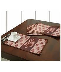 Designer Dining Table Mats Digitally Printed Designer Dining Table Mat Waterproof Set
