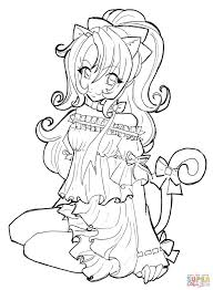 Anime Girls Coloring Pages Free Coloring Pages Awesome Cartoon