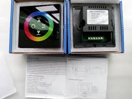 tm08 touch panel wall mounted switch rgb led controller
