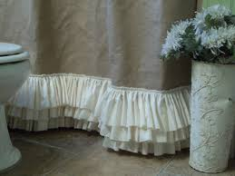 burlap shower curtain with rows of tattered by simplyfrenchmarket 92 00