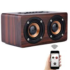 speakers bluetooth. retro wooden bluetooth speaker hifi wireless 3d dual loudspeakers surround mini portable altavoz usb speakers