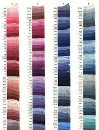Dmc Color Chart List Anchor Colors Anchor Threads And References List Of Anchor