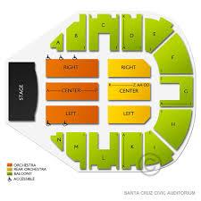 Santa Cruz Civic Auditorium 2019 Seating Chart