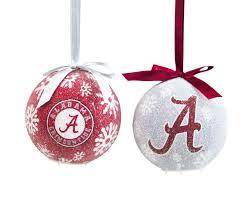 Crimson Tide Christmas Lights Alabama Crimson Tide Official Ncaa Led Box Set Ornaments By