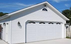 20 foot garage door with window insert