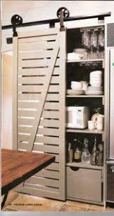 it just occurred to me that it is totally feasible to take off the clunky bi fold doors in the kitchen pantry and fit a fab barn door just like this
