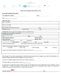 credit card authorization form template word with pdf