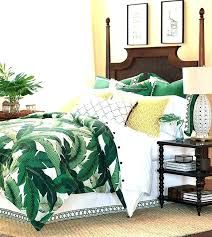 palm leaves bedding tropical print bedding banana leaf bedding lanai green tropical leaf foliage green banana palm leaves bedding