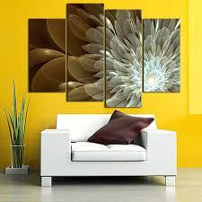 daisy wall art 4 panel abstract flower canvas wall art gold daisy wall decor painting artwork daisy wall art