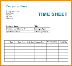 Template Free Employee Time Sheet Forms Employees Timesheet