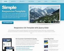 Simple Website Template Mesmerizing Free Simple Website Templates Simple Website Design Template