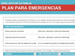 plan de emergencias familiar plan de emergencia familiar office templates