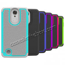 lg fortune. top quality shock absorption drop protection hybrid case cover for lg fortune / v1 k4 lg