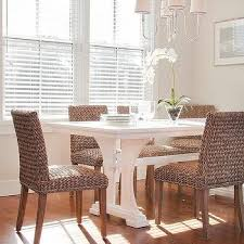 wicker kitchen table and chairs trestle dining table design ideas
