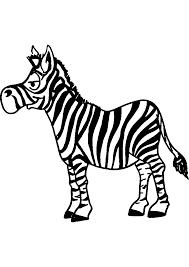 Dessin Imprimer Prefix Zebre Sans Rayures Coloriage X Z Bre