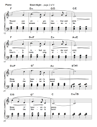 Sheet music arranged for piano/vocal/chords in c major. Silent Night Piano Sheet Music