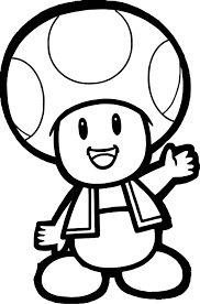 Super Mario Bros Toad Coloring Page Free Printable Pages Mesmerizing