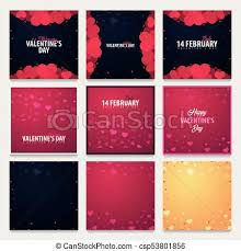 Valentines Flyers Set Of Valentines Day Sale Backgrounds Wallpaper Flyers Invitation Posters Brochure Voucher Banners Vector Illustration
