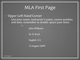 Ppt Mla Style The Basics Powerpoint Presentation Id6693472