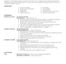 housekeeping resume templates tehnolife pro wp content uploads 2018 05 sample ho