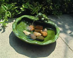 solar water features for small gardens