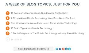 tool blog topic generator for small businesses small  hubspot blog topic generator