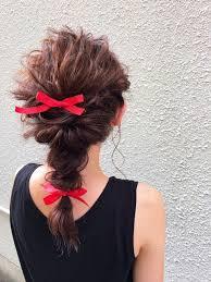 簡単カワイイリボン編み込みのやり方セルフヘアアレンジ特集