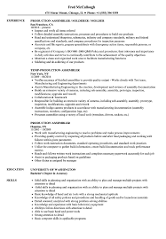 Assembler Resume Samples Production Assembler Resume Samples Velvet Jobs 11