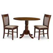 3 Pc Small Kitchen Table Set Round Kitchen Table And 2 Chairs