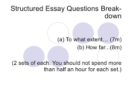 answering structured essay questions 3 structured essay questions