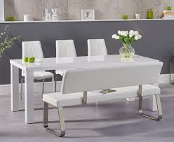 Atlanta 180cm White High Gloss Dining Table With Cavello Chairs And