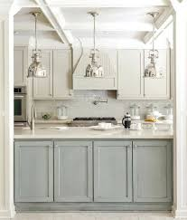 gray green kitchen cabinets two tone kitchen design with gray green and light gray cabinets and